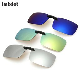 Chinese  Imixlot UV400 Polarized Clip on Sunglasses Men Unisex Eyeglasses Light Super Lens Sun Glasses Night Vision Driving Clip on Glass manufacturers