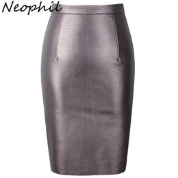 $enCountryForm.capitalKeyWord UK - Neophil 2019 Sexy Faux Fur Leather Pu High Tail Midi Women Pencil Skirts Xxl Office Wrap Bodycon Short Girls Tutu Saia S08019 Y19071501