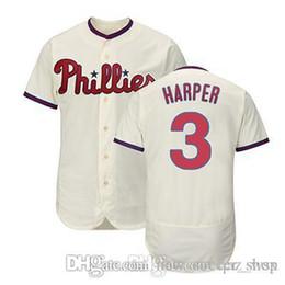 c3b58bff5 3 Bryce Harper Jersey Philadelphia Flex Base Cool Base Phillies Majestic  Alternate Embroidery Mesh Retro white Red Mens Baseball Jerseys