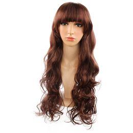 $enCountryForm.capitalKeyWord UK - New Hot Selling Fashion Female Long Curly Hair Chemical Fiber High Temperature Silk Wig Set jooyoo