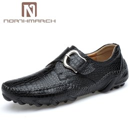 Discount band drive - NORTHMARCH Genuine Leather Men Shoes Hasp Breathable Casual Men Shoes Loafers Fashion Driving Chaussures Hommes Cuir