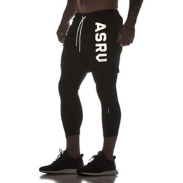 Wholesale men leggings for sale – dress Mens IN Fitness Pants Quick drying Stretch Fitness Leggings Gym Training Shorts Brand Fashion New Pants