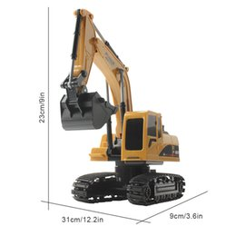 rechargeable toy cars UK - RC Excavator Toy 2.4Ghz 5 6CH 1:24 Mini Engineering Vehicle RC Toys Rechargeable Excavator Engineering Vehicle Gift Toy for Kids