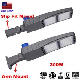 Wholesale DLC ETL LED Shoebox Pole Light Parking Lot Lights, 300W 5000K Direct Wiring AC 100-277V, IP65 Street Parking Lot Lights, Free Photocell
