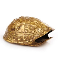 $enCountryForm.capitalKeyWord Australia - Crafts Copper Bronze Brass The copper tortoise shell divinatio shell divination ornaments your fortune teller feng shui supplies
