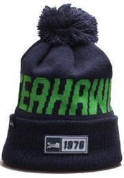 Black top hats for men online shopping - 2020 New Fashion Unisex Winter Seahawks beanie Hats for Men women Knitted Beanie Wool Hat Man Knit Bonnet Winter Beanies Gorro Warm Cap