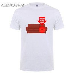ingrosso sheldon cooper-T shirt stampata Sheldon Cooper Penny da uomo manica corta estiva The Big Bang Theory T shirt Cotton Cooper Logo T shirt da uomo Top