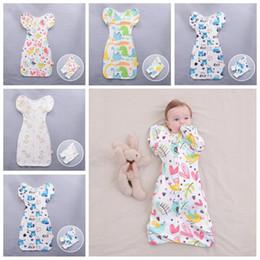 $enCountryForm.capitalKeyWord Australia - Newborn Cotton Swaddle Blanket Wrap Baby Infant Sleeping Bag Sleepsacks Apparel with Detachable long sleeves Romper Floral Apparel LT1444