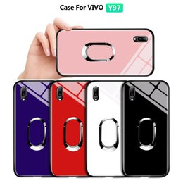 Discount vivo phones - For Vivo Y85 V9 Z1 Z1i Luxury Magnetic Ring Holder Stand Case Tempered Glass Casing Protective Phone Back Shockproof Cov