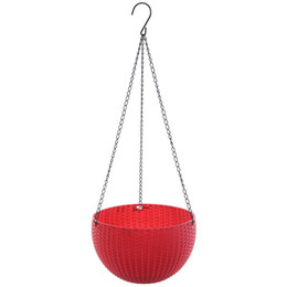 Wholesale Hanging Basket Flowerpot Anti Rattan Weaving Plastic Pinkycolor Pots For Garden Resin Party Hot Salo wx3 B RW