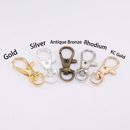 $enCountryForm.capitalKeyWord Australia - Gold Silver Key Chain Split Key Ring Swivel Lobster Lobster Clasp Clip Buckle Key Hook Keychain For DIY Jewelry Making