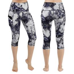 $enCountryForm.capitalKeyWord Australia - Women's High Waist Pocket Print Yoga Pants Tummy Control Running Leggings Women leggings sport women fitness New A3052
