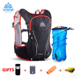 Discount water backpack for cycling - AONIJIE Outdoor Sports Trail Running Backpack 5L Marathon Hydration Vest Pack For 1.5L Water Bag Super Light Cycling Hik