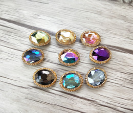 $enCountryForm.capitalKeyWord Australia - 10Pcs lots Multicolour Faceted Crystal Glass Loose Beads,pave rhinestone Spacer Connector Beads Jewelry Finding BD358
