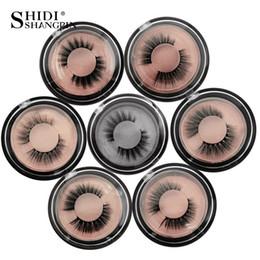 Length False Eyelashes Australia - #4S-#4P New mink hair eyelashes 1 pair box natural high-end false eyelashes hot sale neutral packaging 7.5×7.5×2.2cm 38g length 1.3cm