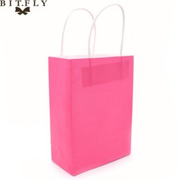 04003ffc04f Colorful Small Kraft paper Gift bag with handle Festival jewelry bags  wedding birthday party gift package Wrapping Supplies C18112701
