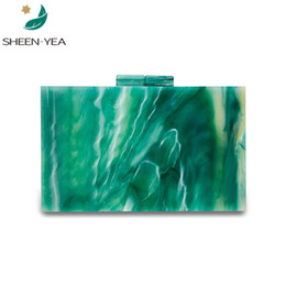 $enCountryForm.capitalKeyWord NZ - New arrival brand designer emerala green acrylic evening bag cute girl party prom mini clutch purse wallet with shoulder chains