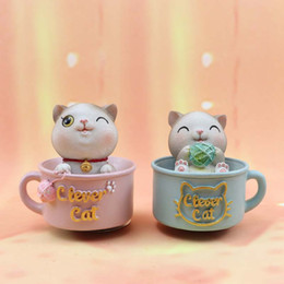 $enCountryForm.capitalKeyWord Australia - Cute Cartoon Cat Dolls Car Ornaments with Music Creative Cat Toys Car Dashboard Decoration Craft Accessories for Girls