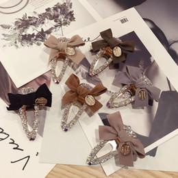 $enCountryForm.capitalKeyWord Australia - Women Bow Knot Barrettes Fashion Rhinestone Bow Tie Hair Clips for Girls Simple Style Lady Barrettes for Party
