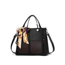 09c262b9eb6e good qualityLarge Capacity Women s Shoulder Bag Bow Scarf Bags For Women  2019 Pocket Stitching Handbag Bolsa Feminina Sac A Main