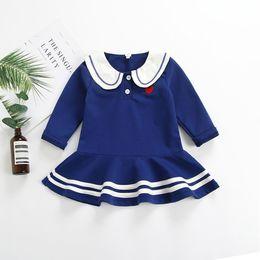 47438fe3609 New 2019 Fashion Spring Dress For Toddler Baby Girls Heart Letter Print  Kawaii Dresses Long Sleeve Striped Princess Dress