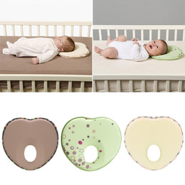 anti flat head pillow baby Australia - flat Heart Shape for Newborn Baby Protection Anti Roll Cushion Flat Cotton Head Pillow Children's Cushion Linens