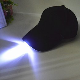 led glow ball lights Australia - Unisex Caps Fashion LED Lighted Glow Club Party Black Fabric Travel Hat Baseball Cap