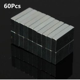 Neodymium N52 Block Magnet Australia - Promotion Price 60pcs Cuboid N52 NdFeB Magnetic Materials Block Rare Earth Neodymium Permanent Super Strong Magnets 10 x 5 x 2mm