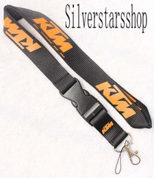 motorcycle key lanyard 2020 - Hot! KTM motorcycle Lanyard Keychain Key Chain ID Badge cell phone holder Neck Strap Black and orange. free shipping