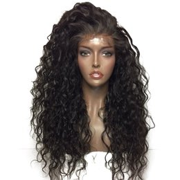 long african hair Australia - Good Style Deep Wave Wigs For African Americans,Virgin Brazilian Human Hair Lace Front Wigs For Black Women