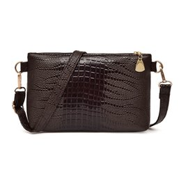 Crocodile Ladies Handbags NZ - Cheap High Quality PU Leather Women Fashion Handbag Crocodile Pattern Shoulder Bag Small Tote Ladies Purse#YL