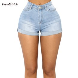 Zipper High Waist Australia - Free Ostrich Clothes Women Jeans Sexy Pocket High Waist Zipper Denim Slim Fit Mini Shorts Pants Jeans summer slim Feminino