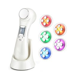 $enCountryForm.capitalKeyWord Australia - 6 in 1 LED RF Photon Therapy Facial Lift Skin Rejuvenation Vibration Device Face Massager EMS Ion Microcurrent Mesotherapy Machine