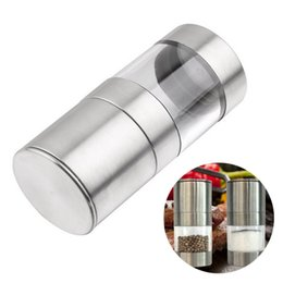 manual kitchen grinder UK - Kitchen Accessories Pepper Mill Grinder Stainless Steel Manual Salt Cumin Seasoning Muller Tools