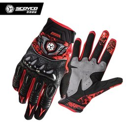 Leather Motocross Gloves Australia - SCOYCO MMX49 Motorcycle Gloves Men Moto Motocross Leather Protection Perforated Riding Gloves Motorcross Off-Road Racing Gloves