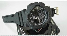 $enCountryForm.capitalKeyWord NZ - 5pcs New G Picture style GA100 men's sports watches with box,dual Display LED wristwatch, military watch, good gift for men & boy, dropship
