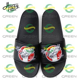 chinese red slippers Australia - Happyslides Chinese Slippers Plain Sandals Slides,Custom Logo Ladies Slippers Designs,Sandals Women Flat Ladies 2019 Wholesale Slippers