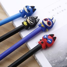pen makers UK - Cute Stationery Cartoon Marvel super hero Cat Student Writing Pen Office Gel Ink Pen Maker Pen Office School Supplies students' gift