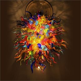 $enCountryForm.capitalKeyWord Australia - Modern Kitchen Design Personal Circle Crystal Chandeliers Colorful Dale Chihuly Style Small Cheap LED Pendant Light
