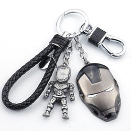 iron man keyring 2019 - Classic Movie The Alliance Iron Man Keychain Couple Pvc Car Keyring Women Charm Bag Accessories Pendant cheap iron man k
