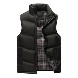 sleeveless motorcycle jacket NZ - Men's Winter Outdoors Vest Cotton-Padded Thickening Waistcoat Plus Size Mens Work Vests Warm Sleeveless Motorcycle Jacket 1112