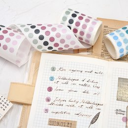 wholesale japanese stationery Australia - Dot Washi Masking Tape Colorful Cute Paper Washi Tapes Japanese Stationery Scrapbooking Decorative Adhesive Student Tapes T200229 2016