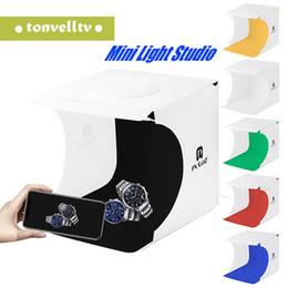 Free photography backgrounds online shopping - Mini Folding Lightbox Photography Photo Studio Softbox Panel LED Light Soft Box Photo Background Kit Light box for DSLR Camera Free DHL