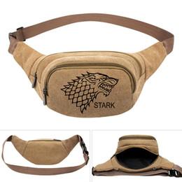 $enCountryForm.capitalKeyWord UK - Stark waistpacks Game of Thrones waist bag Winter is Coming belt side packs Khaki color canvas bum pocket Outdoor sport waistbag