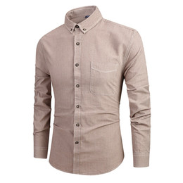 $enCountryForm.capitalKeyWord Australia - Shirt For Men Vintage Shirt Beige Long Sleeve Button Turndown Collar Painting Casual Top Blouse Shirts Streetwear camisas hombre