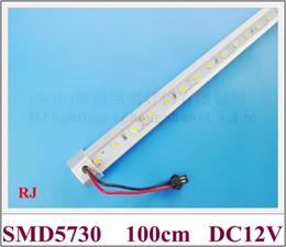 White Bright Lighting Canada - SMD 5730 LED light bar LED rigid strip hard strip DC12V 100cm SMD5730 72led cold white   warm white high bright free shipping