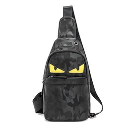 Dye Packs Australia - 2019 luxury famous leather designer Handbags eyes monster backpacks handbag Sac à main camouflage chest pack bags purses crossbody 17809