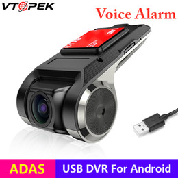 full hd car dvd UK - USB ADAS Car DVR Dash Cam Full HD 1080P for Car DVD Android Player Navigation Voice Alarm Warning System FCWS G-Sensor
