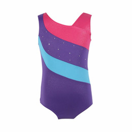 Wholesale gymnastic costumes resale online - Ballet Leotards Sleeveless Gymnastic Kids Girls Ballet Tutu Dancewear Gilding Professional Dance Costumes NEW XY