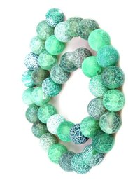 Onyx Stones Jewelry Australia - GREEN 4MM 8mm 6MM 10MM Weathered Agates Natural Stone Beads Frost Onyx Round Loose Beads DIY Necklace Bracelet Earrings DIY Jewelry Making